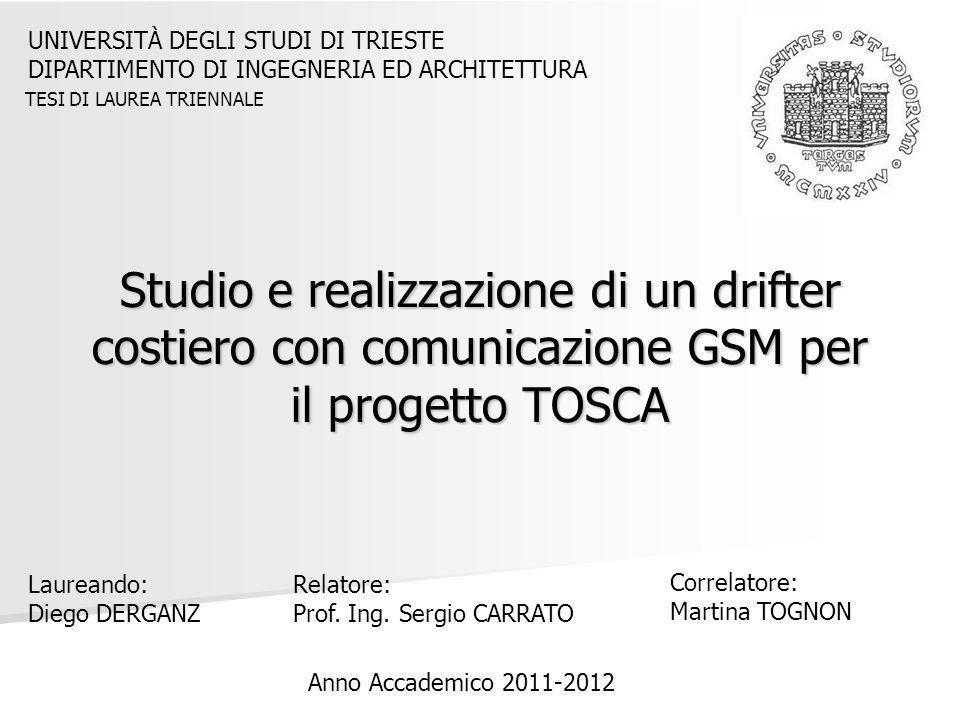 Studio e realizzazione di un drifter costiero con comunicazione GSM per il progetto TOSCA UNIVERSITÀ DEGLI STUDI DI TRIESTE DIPARTIMENTO DI INGEGNERIA