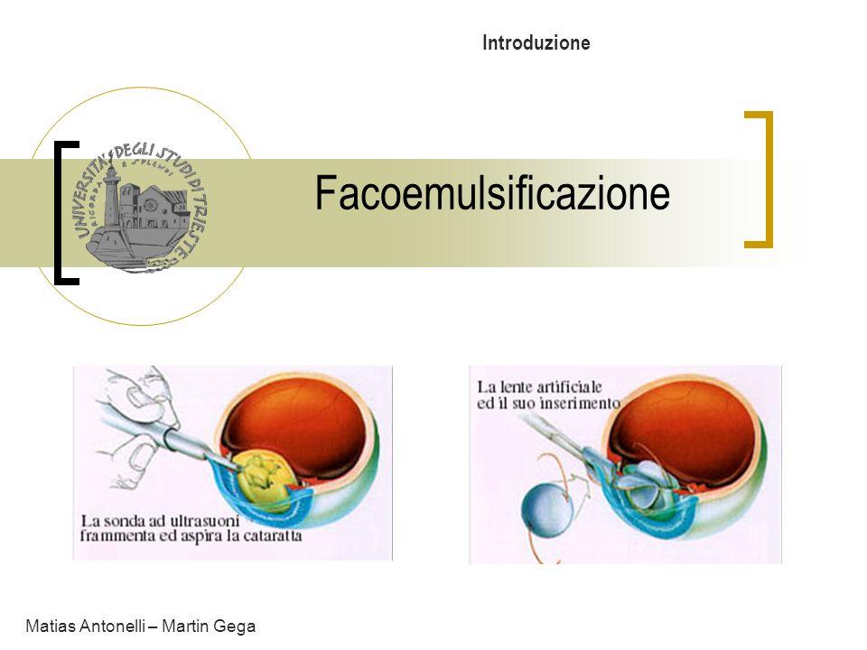 Facoemulsificazione Matias Antonelli – Martin Gega Introduzione