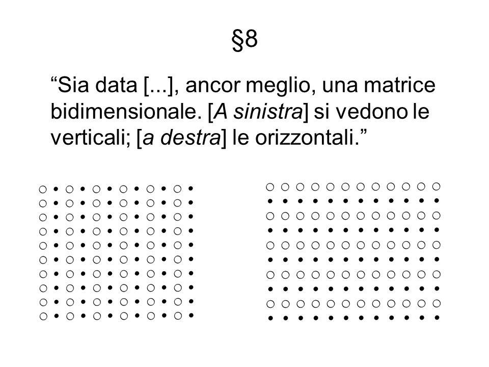 Sia data [...], ancor meglio, una matrice bidimensionale.