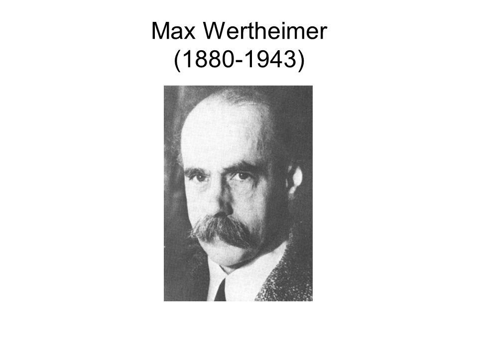 Max Wertheimer (1880-1943)