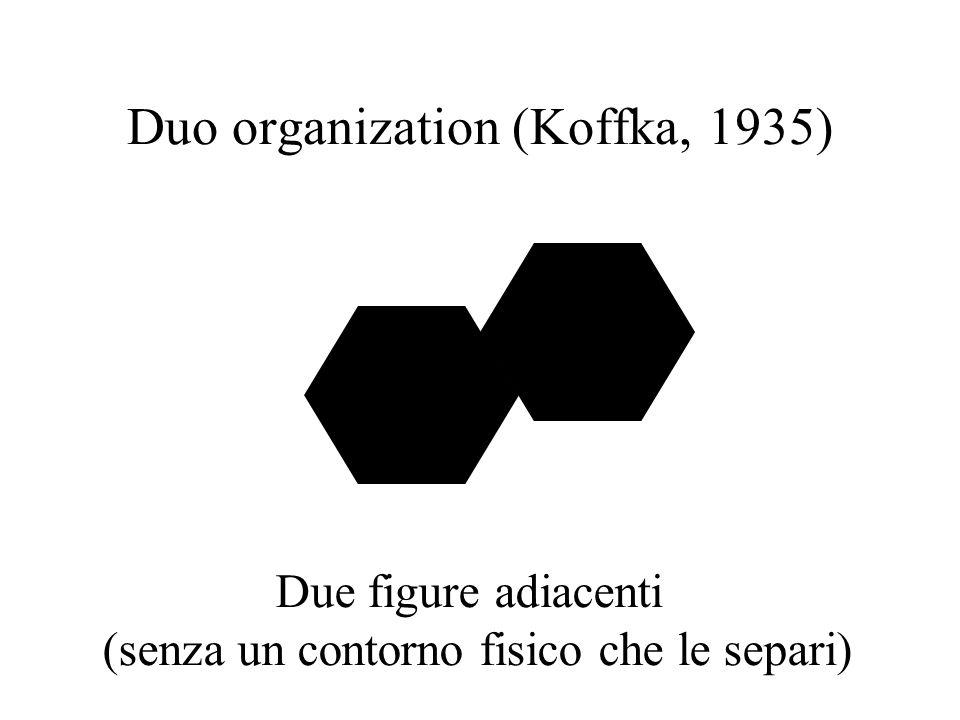 Duo organization (Koffka, 1935) Due figure adiacenti (senza un contorno fisico che le separi)
