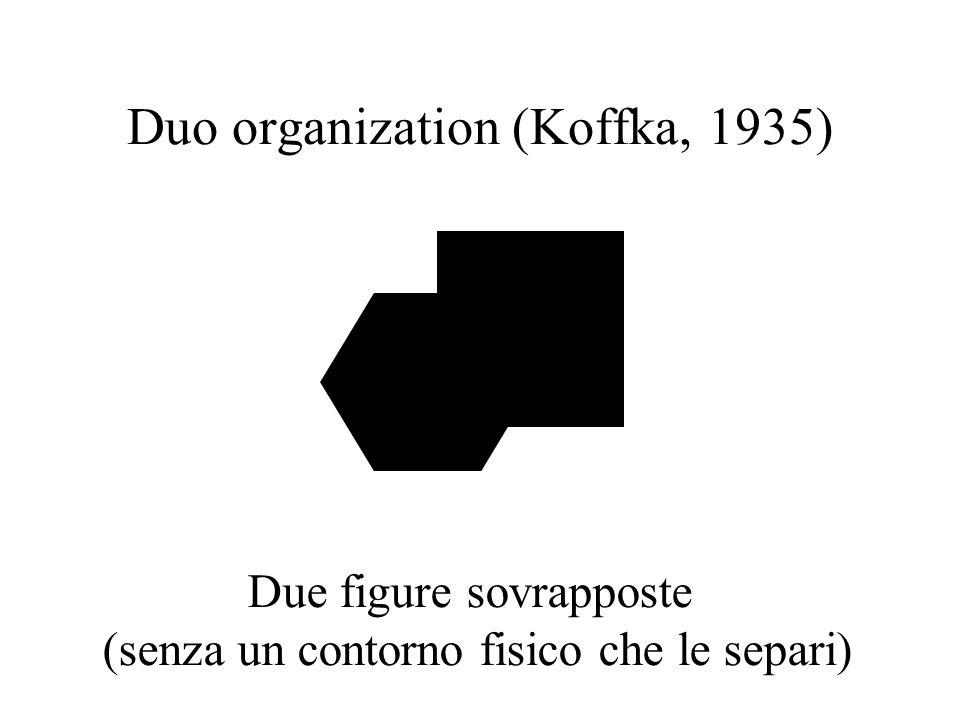 Duo organization (Koffka, 1935) Due figure sovrapposte (senza un contorno fisico che le separi)