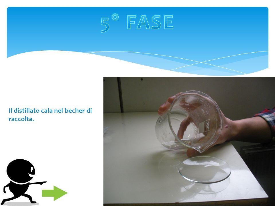 Accendiamo la piastra riscaldante per portare la soluzione al livello di ebollizione dellalcool a 80°C. Questa temperatura dovrà rimanere costante per