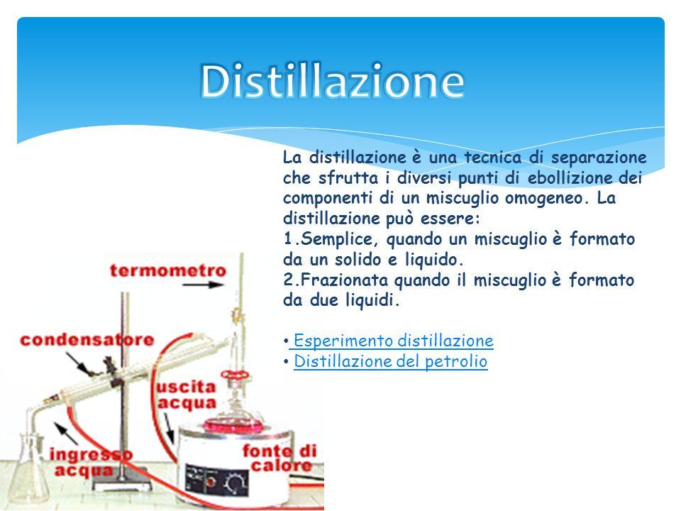 Lestrazione con solvente è un esempio di tecnica di purificazione; ci permette di separare sostanze con diversa solubilità. Il miscuglio viene mescola