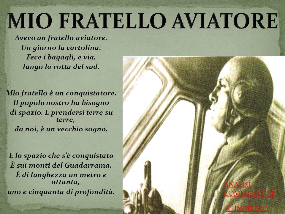 Parole chiave: aviatore, conquistatore, spazio.