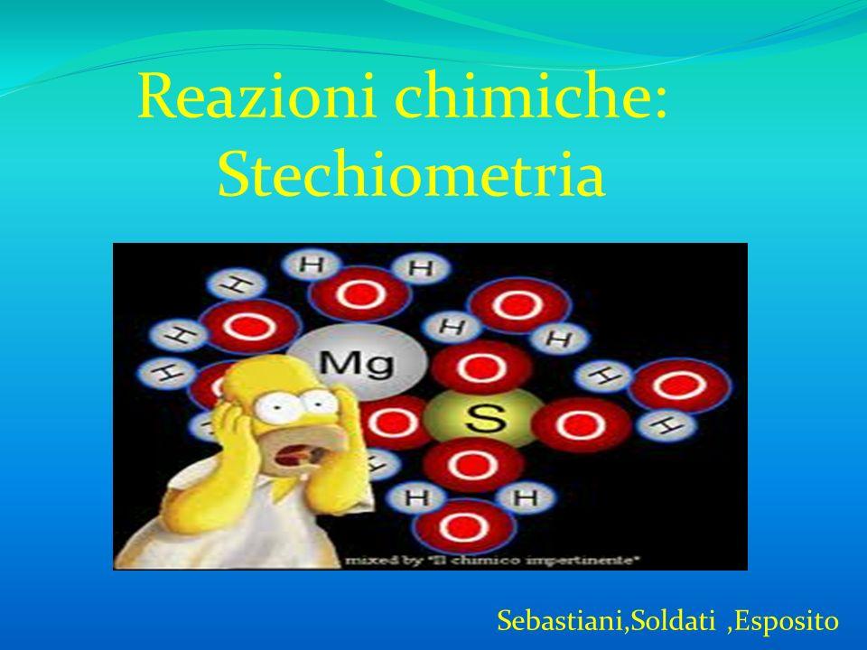 Reazioni chimiche: Stechiometria Sebastiani,Soldati,Esposito