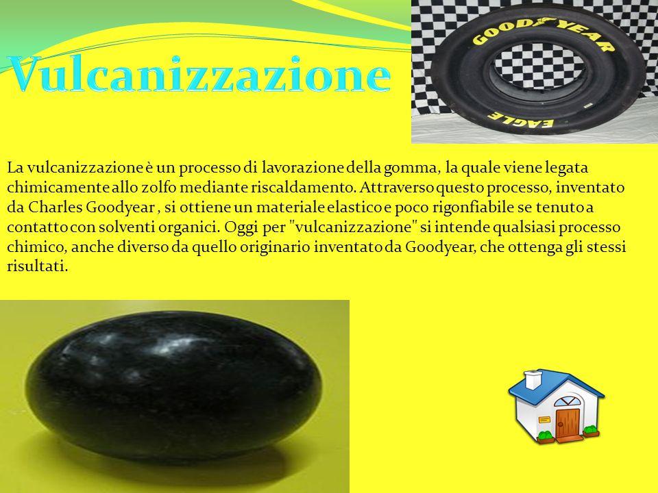 La vulcanizzazione è un processo di lavorazione della gomma, la quale viene legata chimicamente allo zolfo mediante riscaldamento. Attraverso questo p