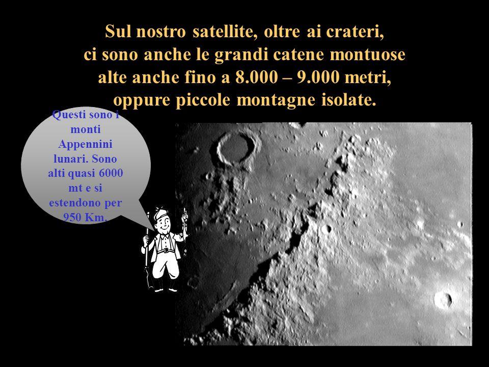 I crateri si formarono molti milioni di anni fa quando la Luna era ancora giovane a causa della caduta di meteoriti i quali provocarono la formazione