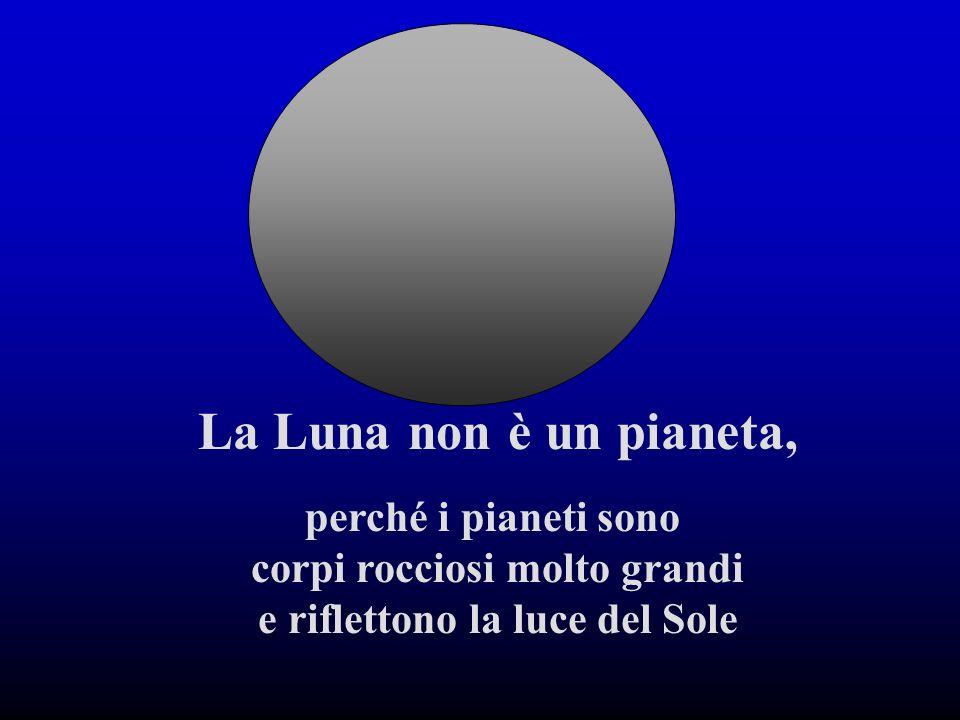 La Luna non è una stella, perché le stelle sono grandissime sfere di gas che brillano di luce propria. Come il nostro Sole