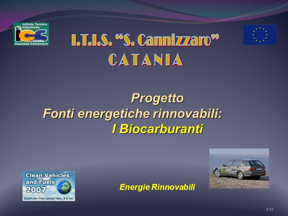 1/17 Progetto Fonti energetiche rinnovabili: I Biocarburanti Energie Rinnovabili