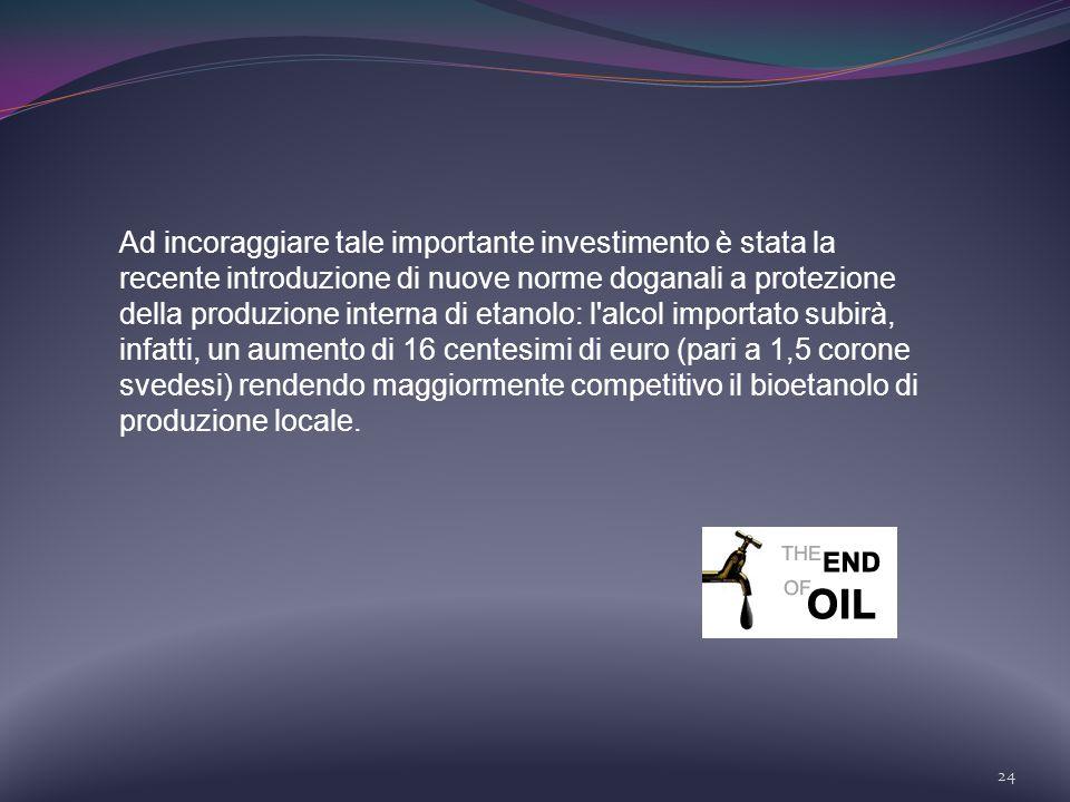 24 Ad incoraggiare tale importante investimento è stata la recente introduzione di nuove norme doganali a protezione della produzione interna di etano