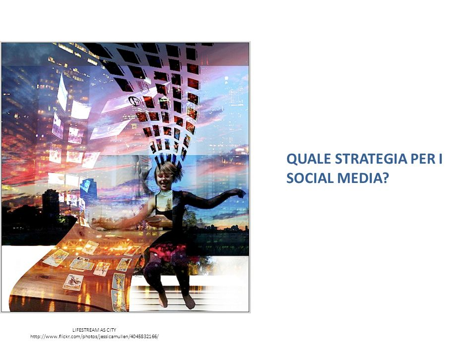 LIFESTREAM AS CITY   QUALE STRATEGIA PER I SOCIAL MEDIA