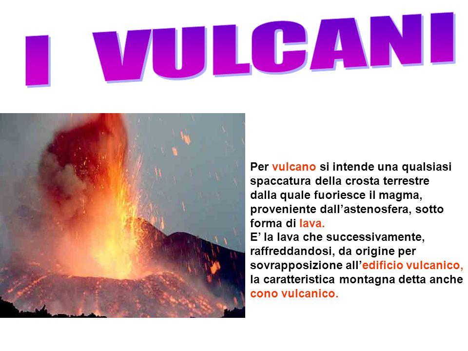 Per vulcano si intende una qualsiasi spaccatura della crosta terrestre dalla quale fuoriesce il magma, proveniente dallastenosfera, sotto forma di lav