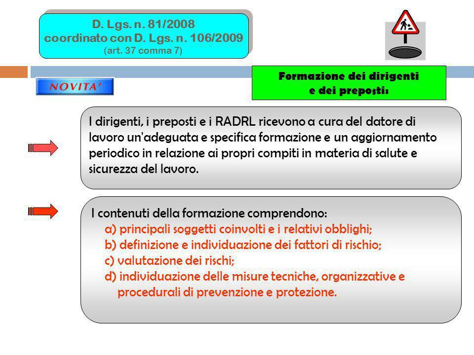 DEFINIZIONI (Art.2 D. Lgs.81/2008) TESTO UNICO D.