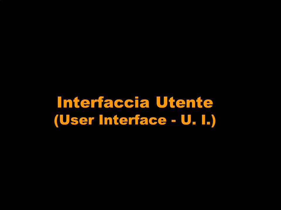 Interfaccia Utente (User Interface - U. I.)