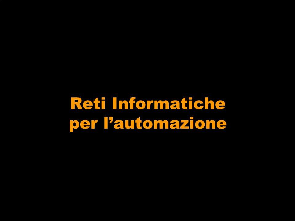 Reti informatiche per lautomazione Lintegrazione tra vari sottosistemi è realizzata per mezzo di reti informatiche.