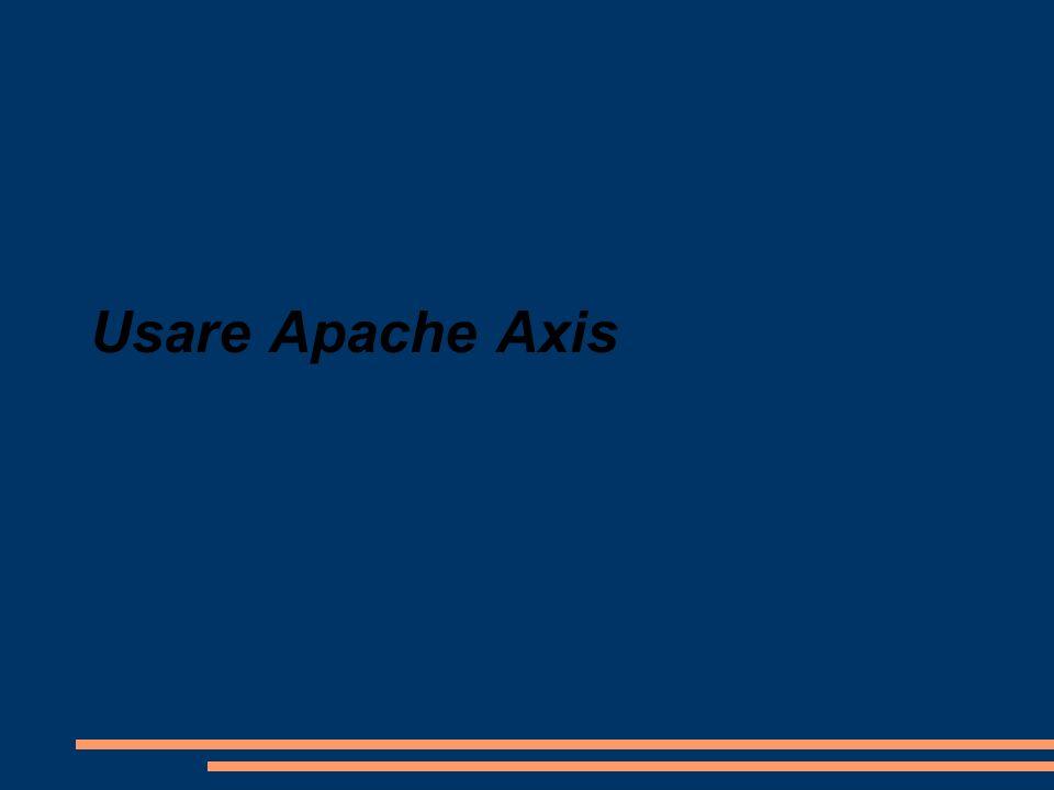 Usare Apache Axis