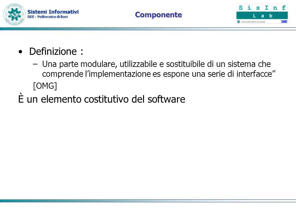 Sistemi Informativi DEE - Politecnico di Bari Modelli architetturali Lo sviluppo di applicazioni di diversa complessità porta alla definizione di due modelli architetturali: 1.modello per piccole e semplici applicazioni, consigliato per applicazioni statiche.