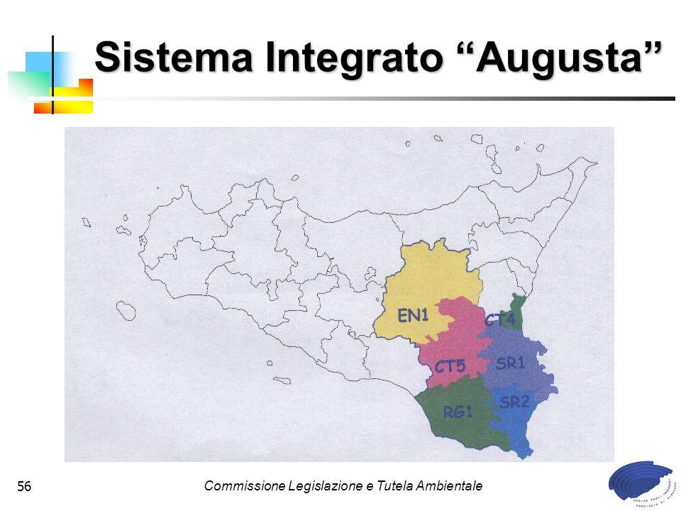 Commissione Legislazione e Tutela Ambientale56 Sistema Integrato Augusta