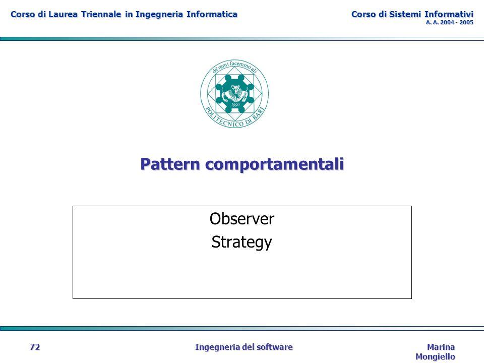 Corso di Laurea Triennale in Ingegneria Informatica Corso di Sistemi Informativi A.