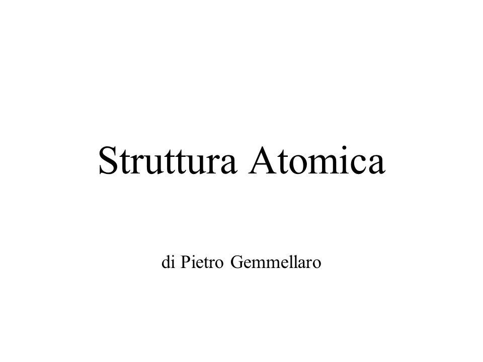 Struttura Atomica di Pietro Gemmellaro