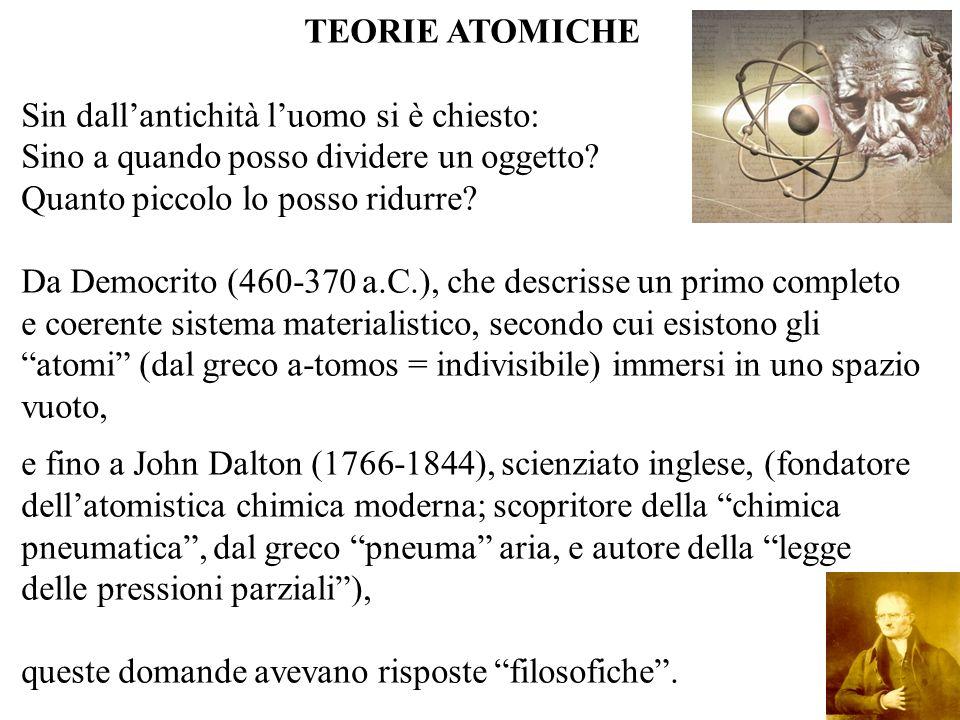 Il primo modello atomico, basato su dati sperimentali, fu proposto per la prima volta nel 1900 da Joseph John Thomson (1856 - 1940), fisico britannico, premio Nobel nel 1906 per la fisica.