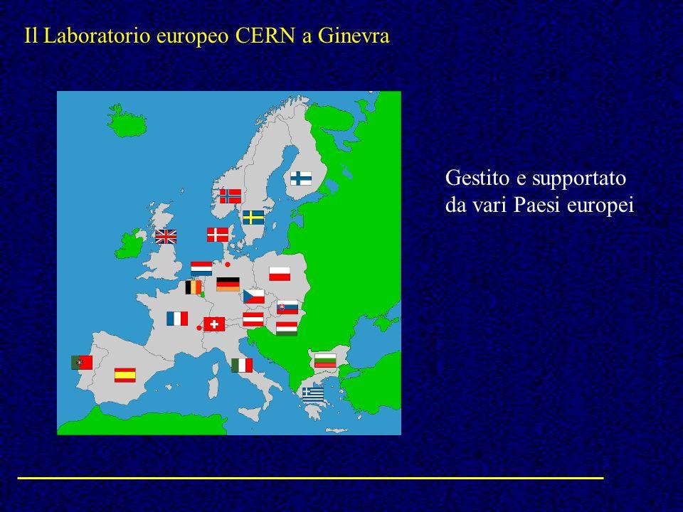 Il Laboratorio europeo CERN a Ginevra Gestito e supportato da vari Paesi europei