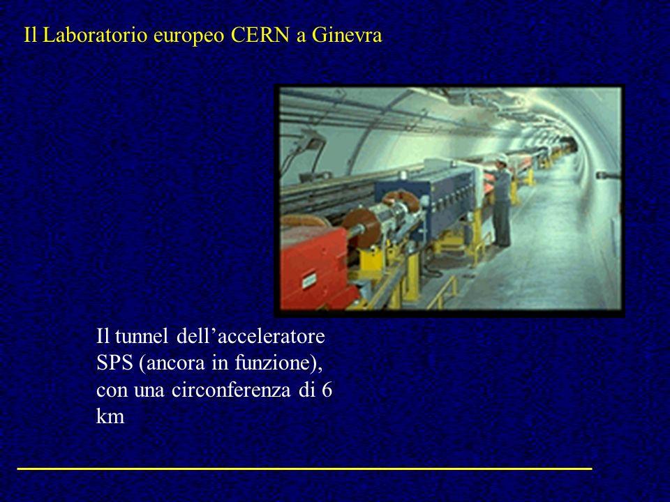 Il Laboratorio europeo CERN a Ginevra Il tunnel dellacceleratore SPS (ancora in funzione), con una circonferenza di 6 km