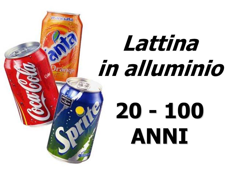 Lattina in alluminio 20 - 100 ANNI