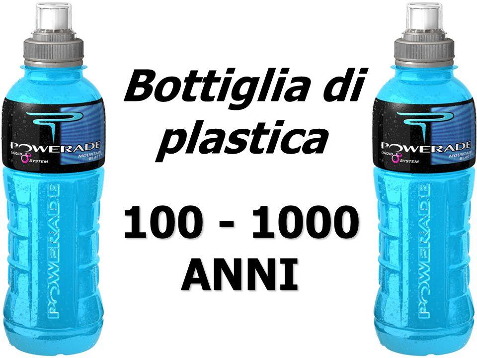 Bottiglia di plastica 100 - 1000 ANNI