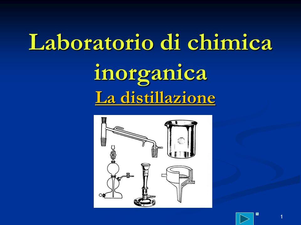 1 Laboratorio di chimica inorganica La distillazione La distillazione