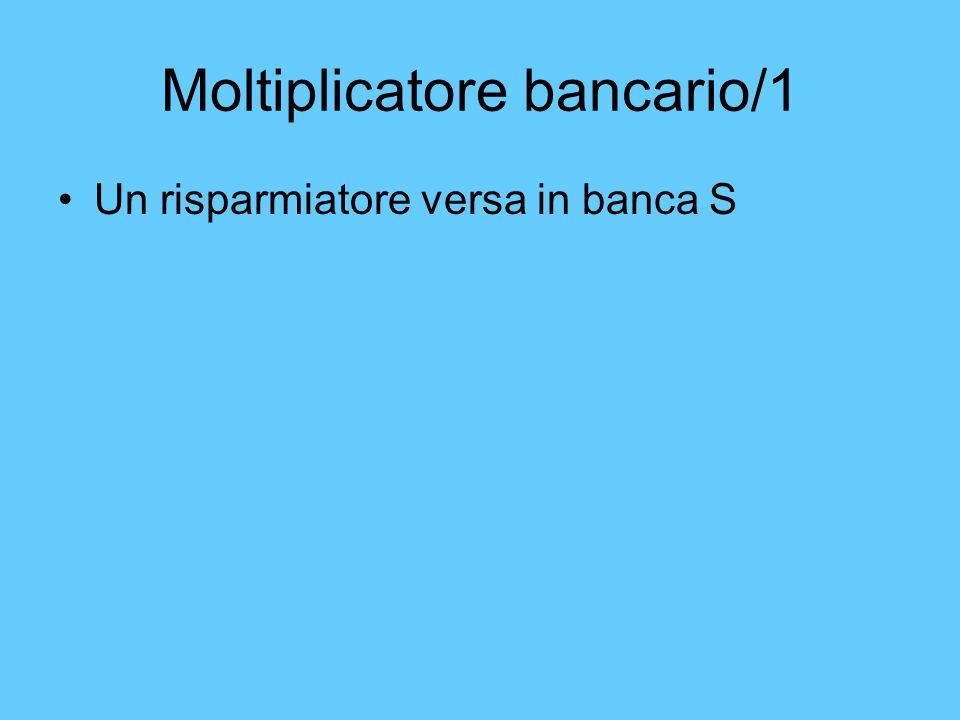 Moltiplicatore bancario/1 Un risparmiatore versa in banca S