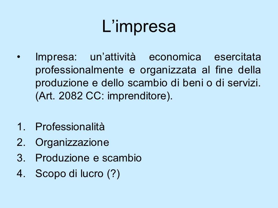 (Società) cooperative / 2 Esempi di cooperative: 1.Di produzione e lavoro 2.Di consumo 3.Di abitazione 4.Di credito 5.Di assicurazione 6.Di istruzione