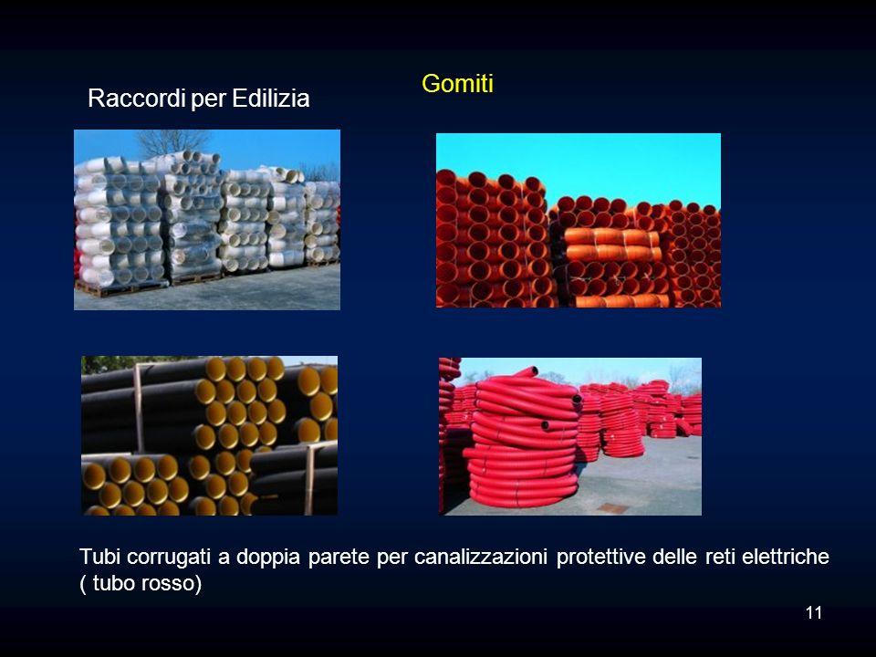 Raccordi per Edilizia Tubi corrugati a doppia parete per canalizzazioni protettive delle reti elettriche ( tubo rosso) Gomiti 11