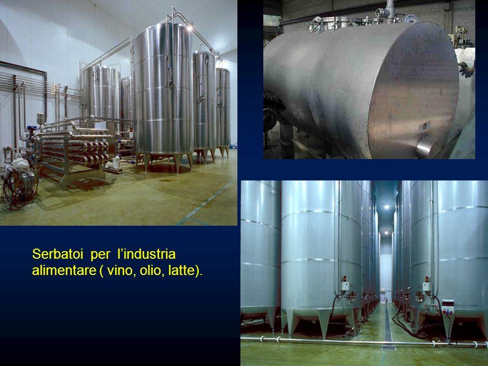 Serbatoi per lindustria alimentare ( vino, olio, latte). 21