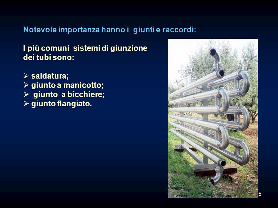I raccordi permettono di unire due o più tubi secondo le esigenze.