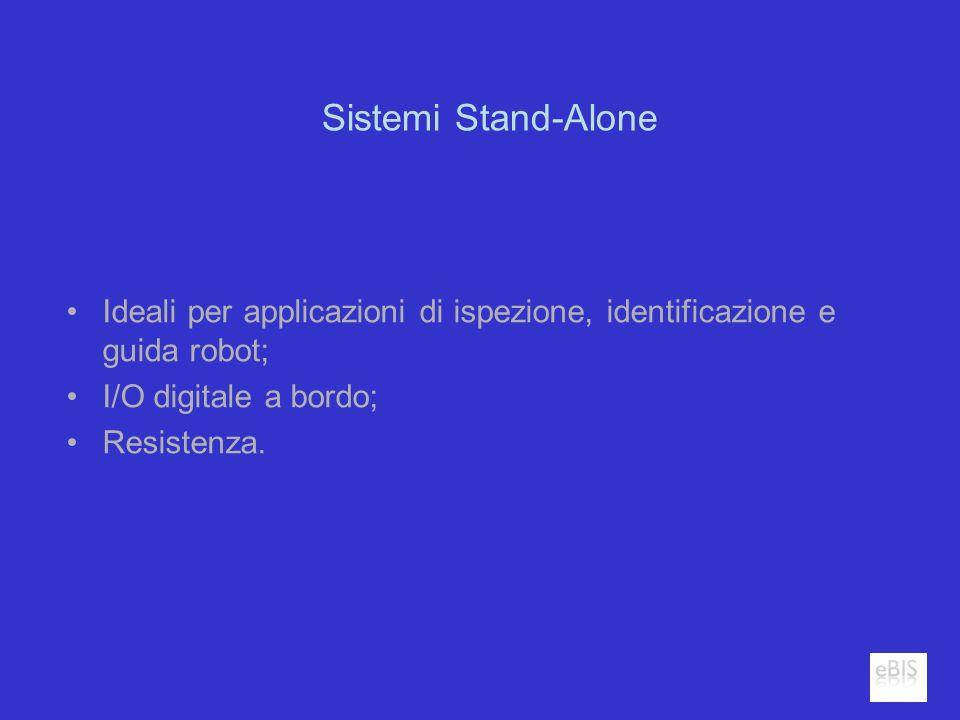 Sistemi Stand-Alone Ideali per applicazioni di ispezione, identificazione e guida robot; I/O digitale a bordo; Resistenza.