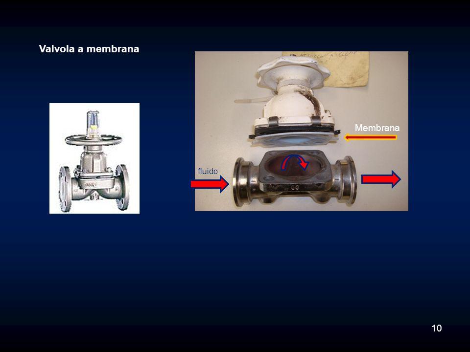 Valvola a membrana Membrana fluido 10
