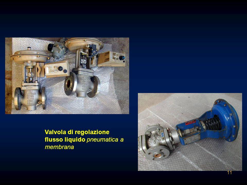 Valvola di regolazione flusso liquido pneumatica a membrana 11