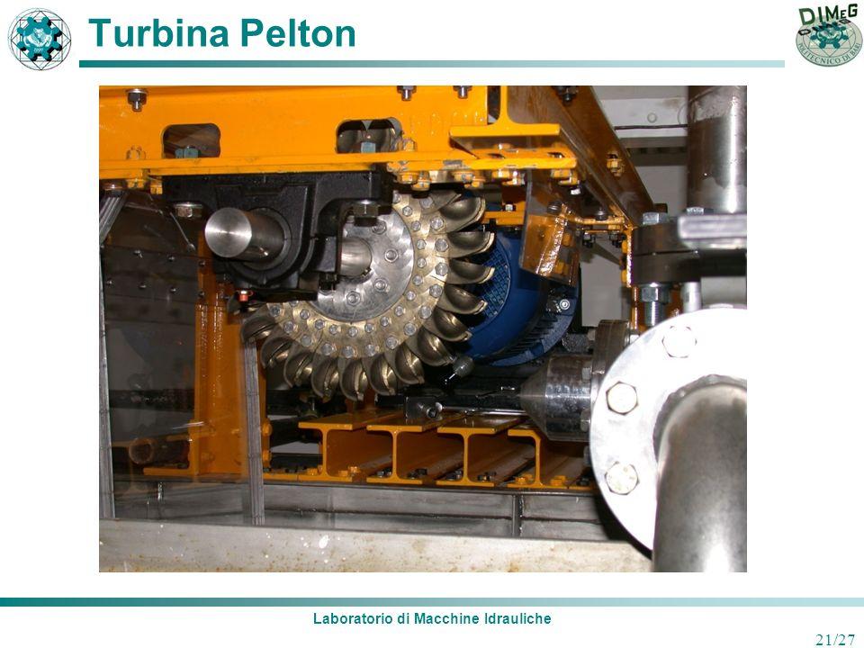 Laboratorio di Macchine Idrauliche 21/27 Turbina Pelton