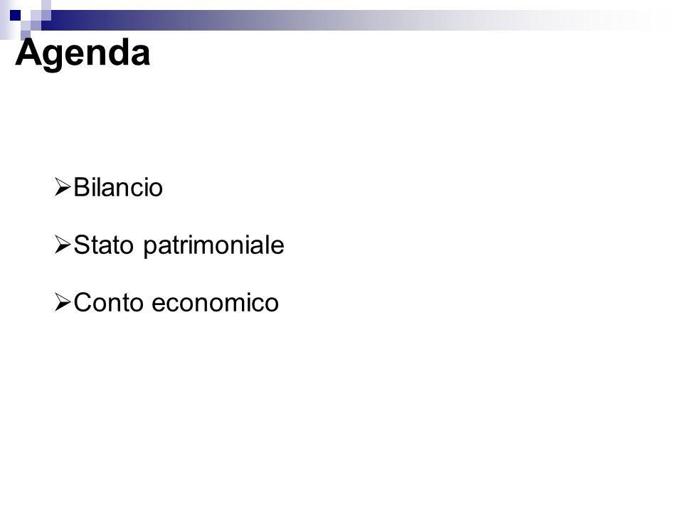 Bilancio Stato patrimoniale Conto economico Agenda