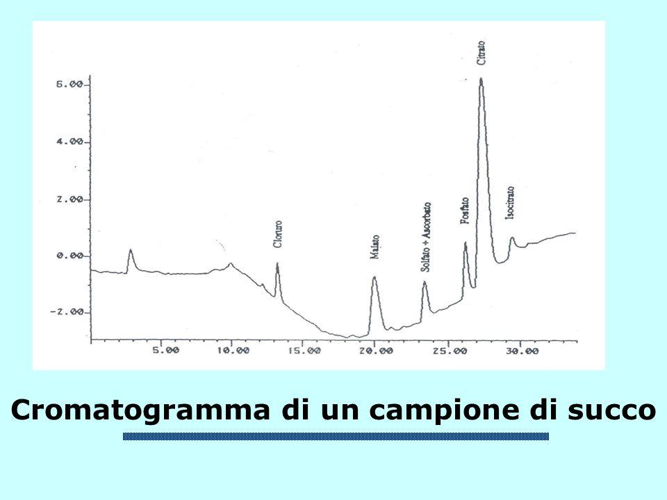 Cromatogramma di un campione di succo