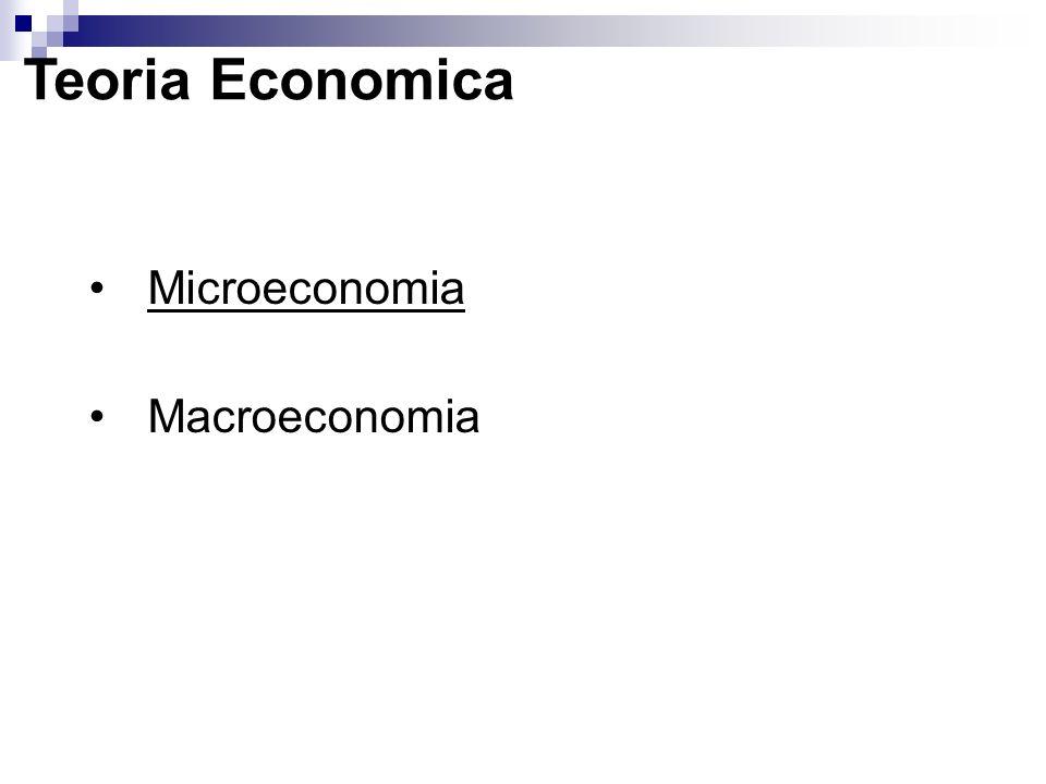 Microeconomia Si occupa del comportamento dei singoli attori economici (consumatori, lavoratori, investitori e imprese) che abbiano un ruolo nel sistema economico