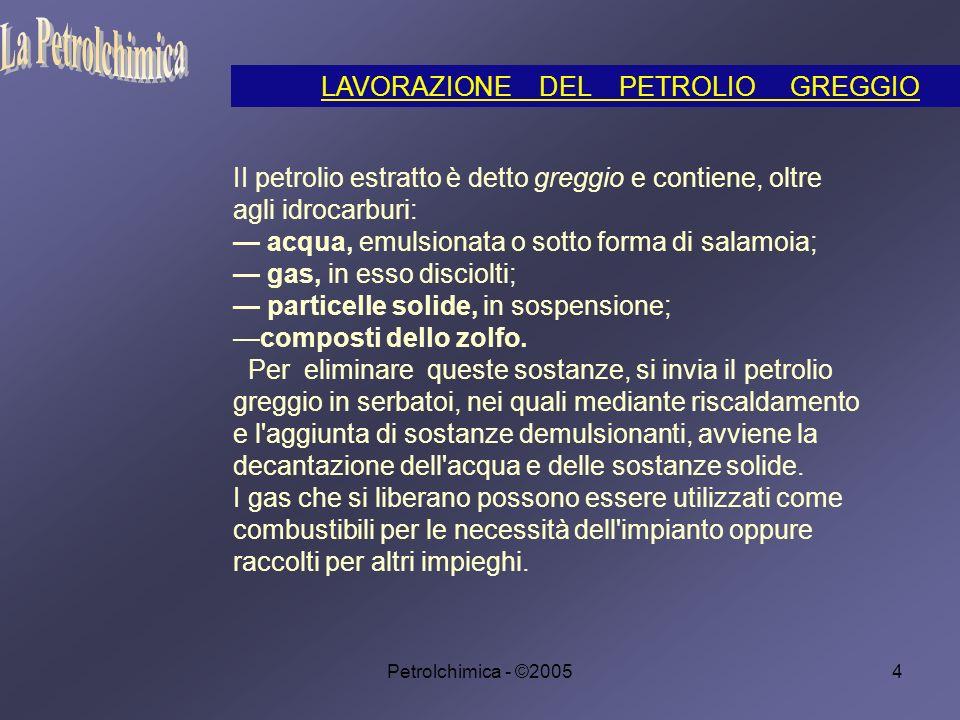 Petrolchimica - ©200555 esenti da sostanze che bruciando provochino inquinamento; sufficientemente volatili; provviste di un alto potere antidetonante.
