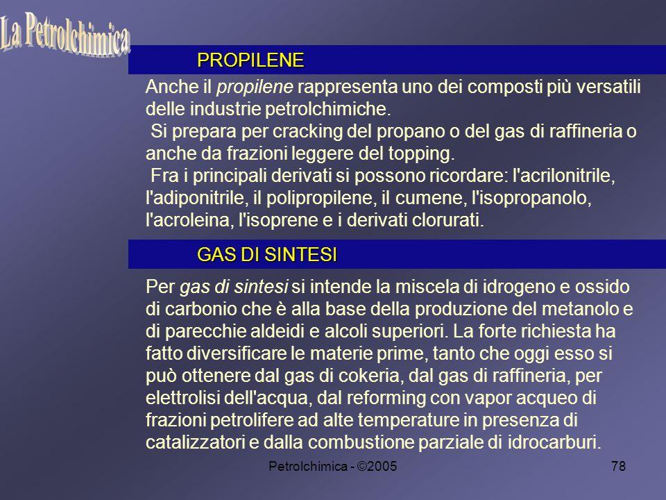 Petrolchimica - ©200578 Anche il propilene rappresenta uno dei composti più versatili delle industrie petrolchimiche.