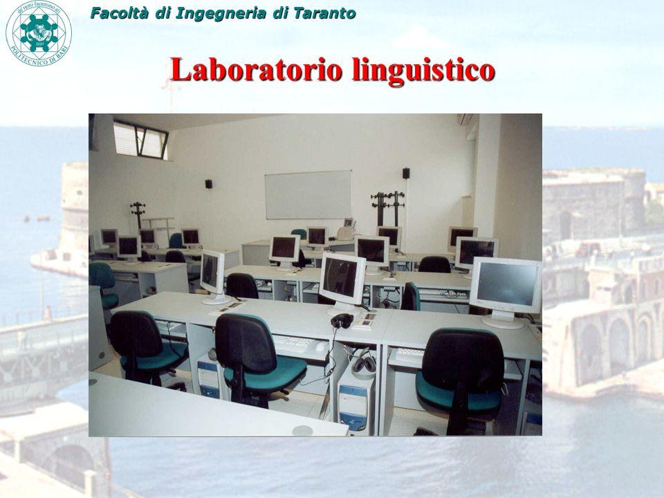 Laboratorio linguistico Facoltà di Ingegneria di Taranto