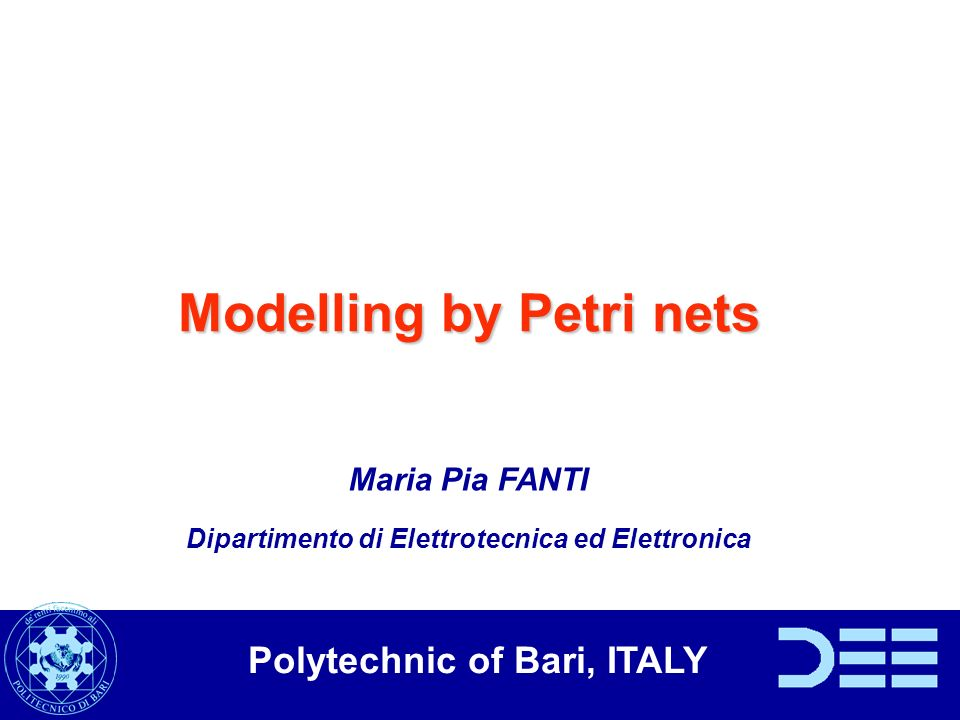 Main advantage of the Petri net modeling: linear algebraic structure We can express qualitative specification numerically: the two machines can not work simultaneously M(p 2 )+M(p 5 ) 1
