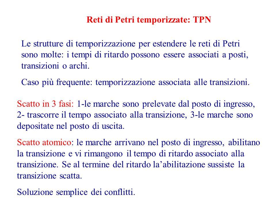 Le strutture di temporizzazione per estendere le reti di Petri sono molte: i tempi di ritardo possono essere associati a posti, transizioni o archi.
