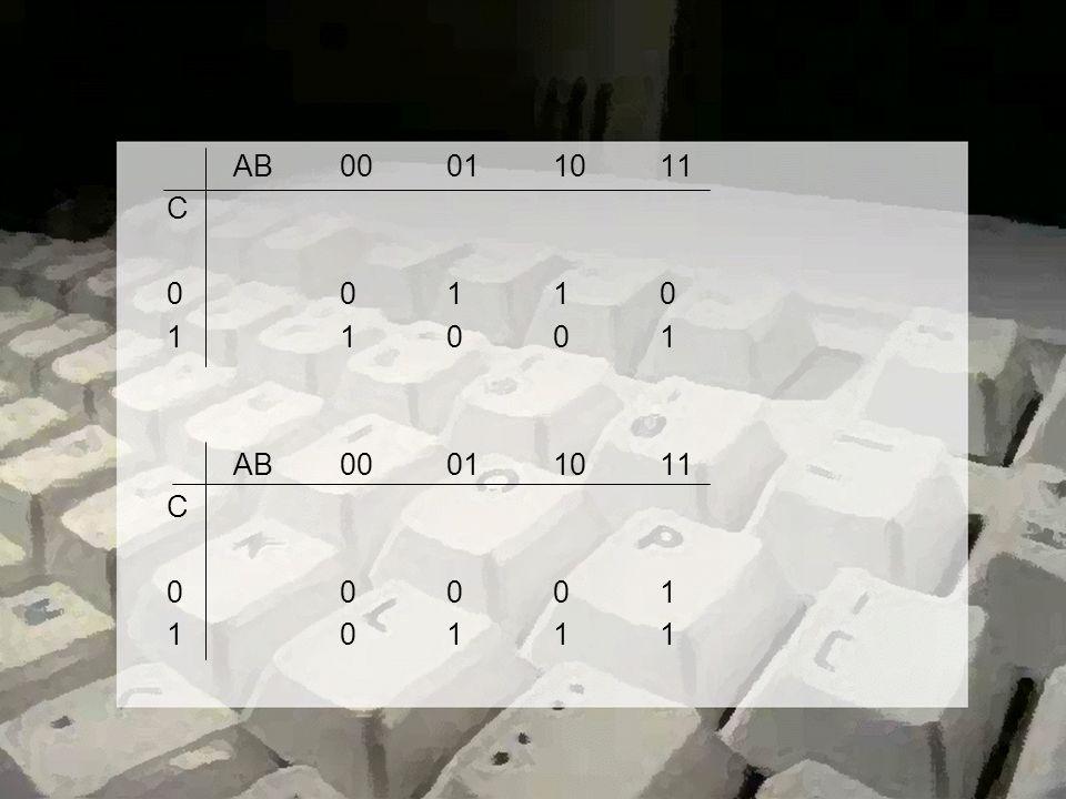 AB00011011 C 00110 11001 AB00011011 C 00001 10111