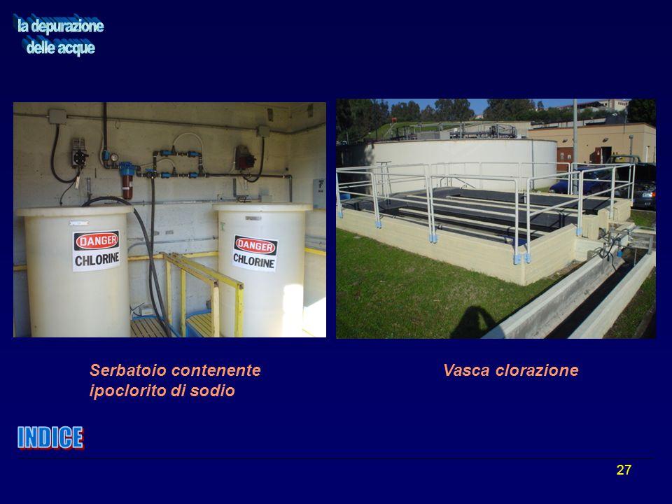 27 Serbatoio contenente Vasca clorazione ipoclorito di sodio